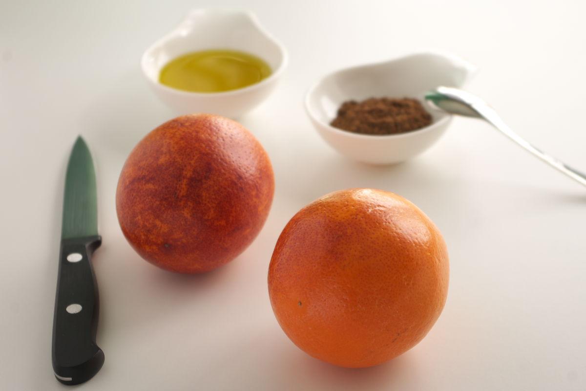 Ingredientes para Naranja Sanguina con Aceite de Oliva Extra Virgen y 5 Especias Chinas