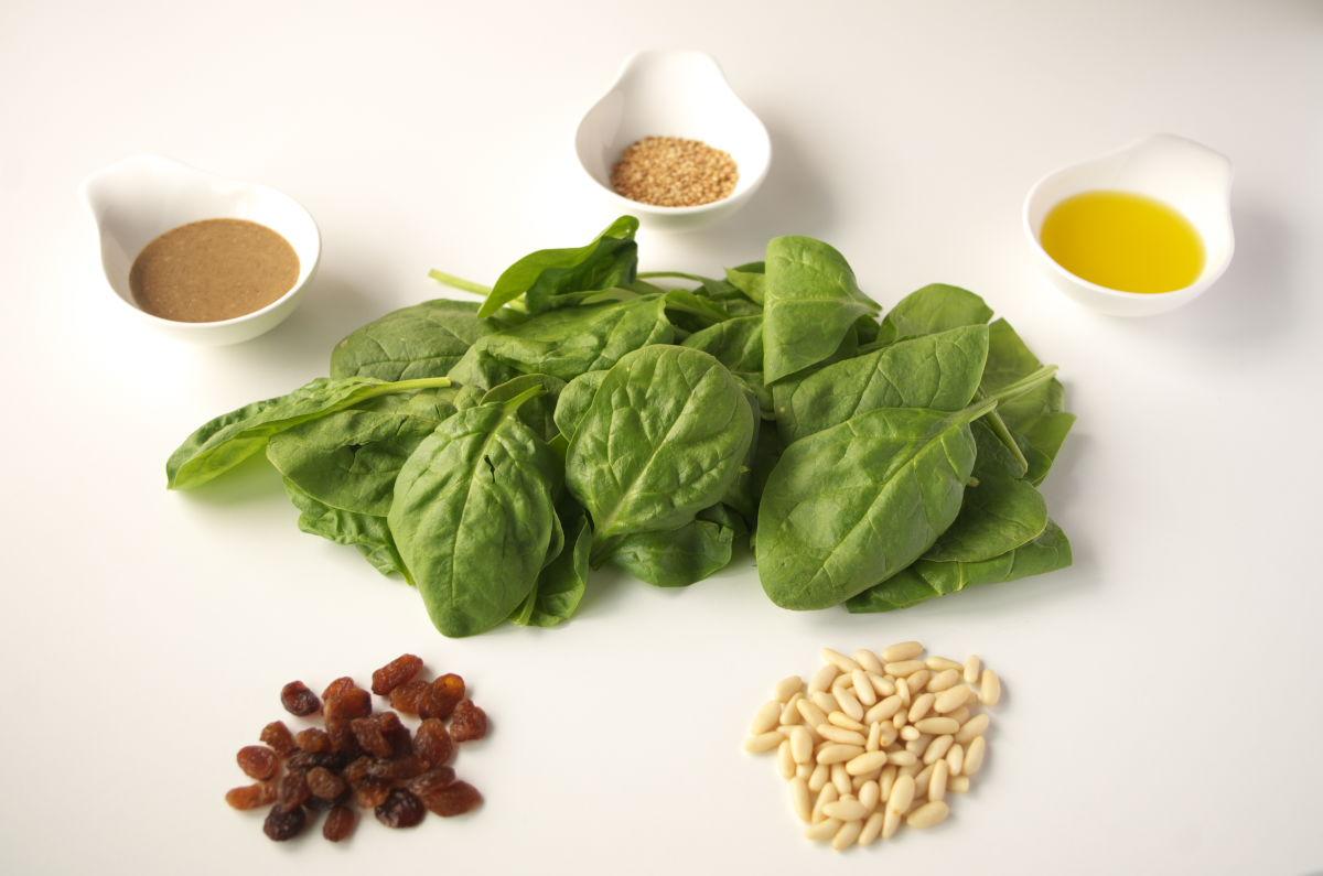 Ingredientes Ensalada de Espinacas con Tahini