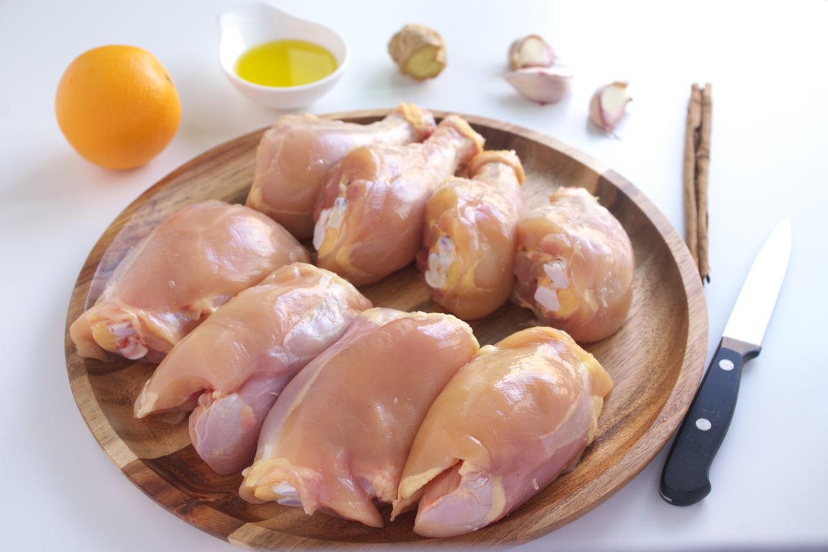 Ingredientes Pollo con Naranja y Canela