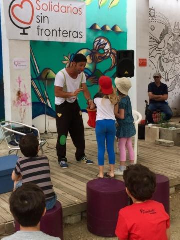 Coc clown y mago en 2º Fiesta Solidaria por el Yemen de Solidarios sin Fronteras