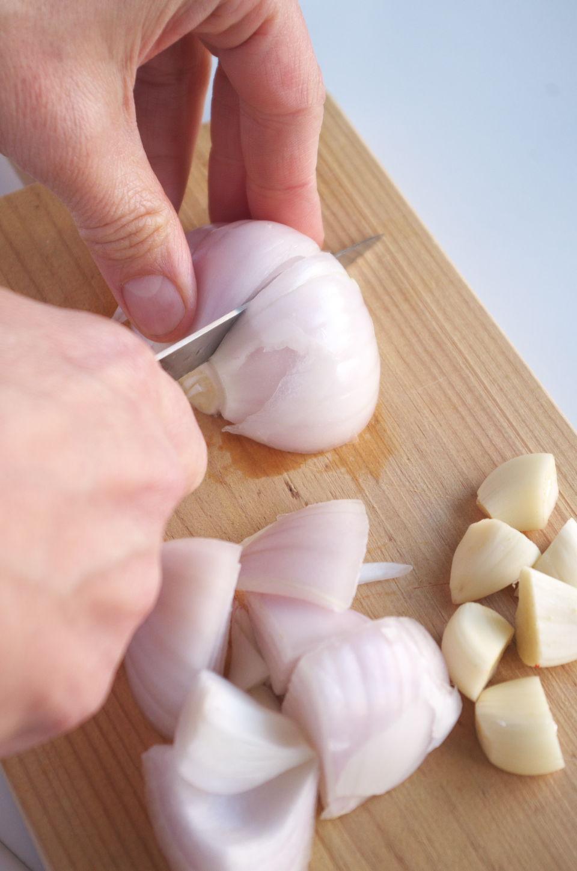Cortando Cebolla para Salsa Piri Piri