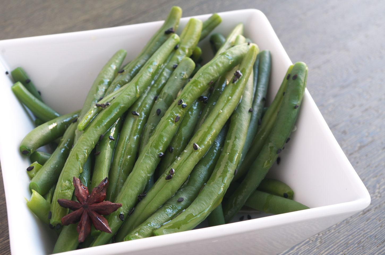Judías Verdes al Vapor estilo Oriental con Sésamo y Aceite de Sésamo