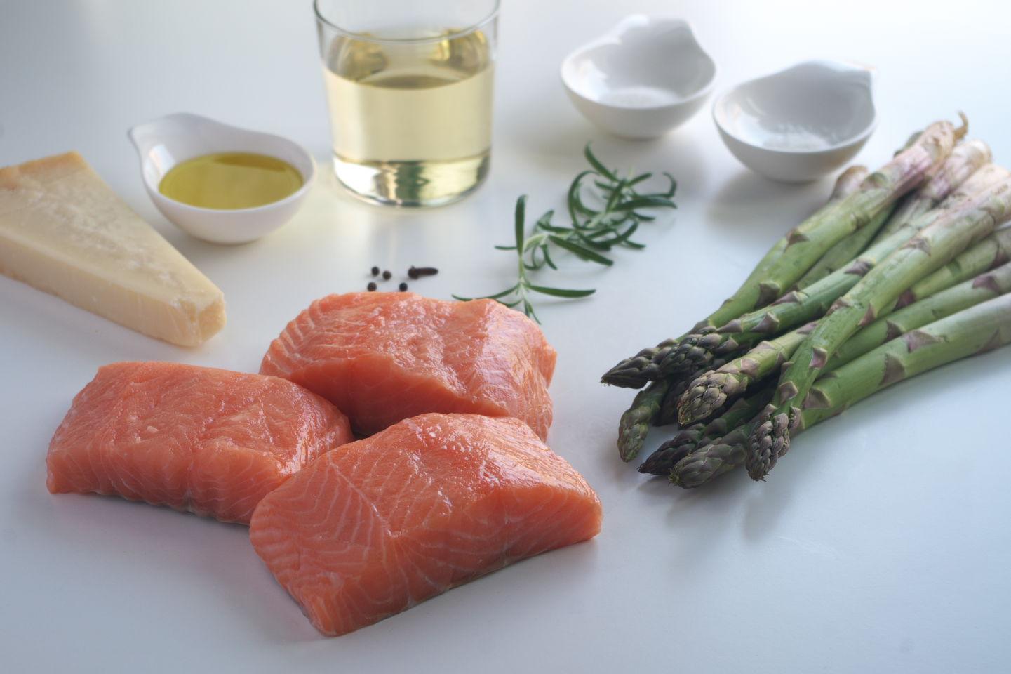 Ingredientes para Salmón con Hierbas aromáticas